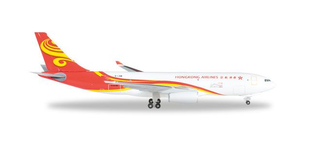 Hong Kong Airlines Cargo A330-200F B-LNW (1:500), Herpa 1:500 Scale Diecast Airliners Item Number HE527378