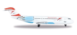 "Austrian Fokker F-70 OE-LFP ""Weis"" (1:500), Herpa 1:500 Scale Diecast Airliners Item Number HE527408"