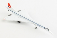 British Airways Concorde G-BOAF (1:500) Negus Colors, Herpa 1:500 Scale Diecast Airliners Item Number HE527477-001