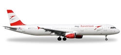 "Austrian A321 ""New Livery"" OE-LBC (1:500), Herpa 1:500 Scale Diecast Airliners Item Number HE528139"
