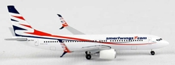 "Smartwings 737-800 with Scimitar Winglets ""OK-TTV"" (1:500), Herpa 1:500 Scale Diecast Airliners Item Number HE528337"