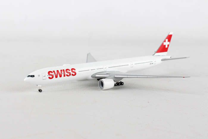 Swiss International 777-300ER HB-JNF (1:500), Herpa 1:500 Scale Diecast Airliners Item Number HE529136-001