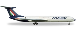 Malev IL-62m (1:500) HA-LIA, Herpa 1:500 Scale Diecast Airliners Item Number HE529167