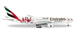 "Emirates Boeing 777-200LR ""Arsenal London"" A6-EWJ (1:500), Herpa 1:500 Scale Diecast Airliners Item Number HE529235"