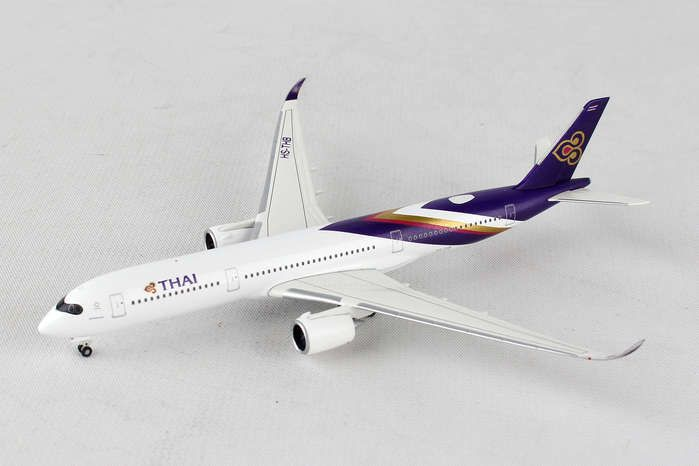 "Thai Airways Airbus A350-900 XWB ""Wichian Buri"" HS-THB(1:500), Herpa 1:500 Scale Diecast Airliners Item Number HE529693"