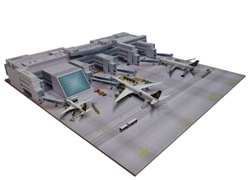Munich Airport Central Plaza (1:500), Herpa 1:500 Scale Diecast Airliners Item Number HE530293