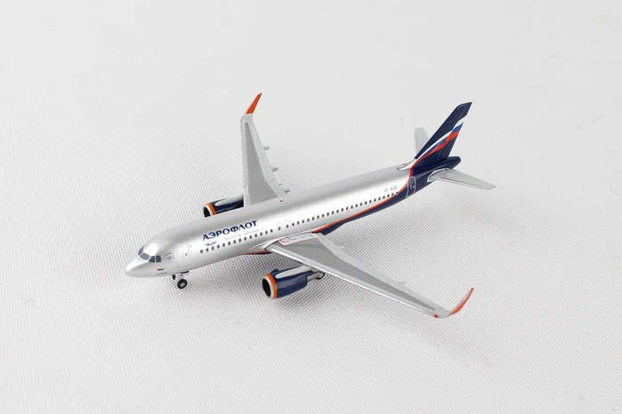 "Aeroflot A320 VP-BAD ""Abram Ioffe"" (1:500), Herpa 1:500 Scale Diecast Airliners Item Number HE530644"