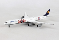 "Lufthansa Airbus A340-600 ""FC Bayern Audi Summer Tour China 2017"" (1:500), Herpa 1:500 Scale Diecast Airliners Item Number HE530897"