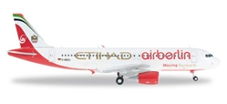 "Air Berlin/Etihad A320 D-ABDU (1:200) ""Moving Forward"", Herpa 1:200 Scale Diecast Airliners Item Number HE556569"