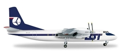 "Lot Polish Airline AN-24B (1:200) ""SP-LTZ"", Herpa 1:200 Scale Diecast Airliners Item Number HE556699"