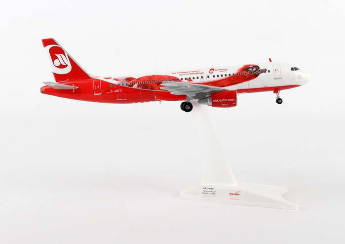 "Air Berlin A320 D-ABFO (1:200) ""Top Bonus"", Herpa 1:200 Scale Diecast Airliners Item Number HE557269"