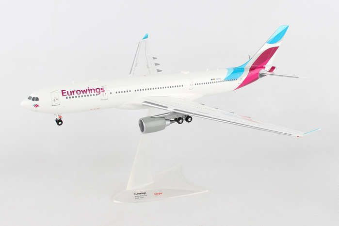 Eurowings A330-200 D-WING (1:200), Herpa 1:200 Scale Diecast Airliners Item Number HE557399