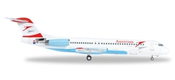 "Austrian F-100 OE-LVD ""Skopje""  (1:200), Herpa 1:200 Scale Diecast Airliners Item Number HE557719"