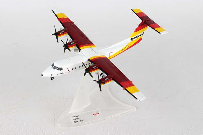 Tyrolean Airways DHC-7 OE-LLS (1:200), Herpa 1:200 Scale Diecast Airliners Item Number HE558419
