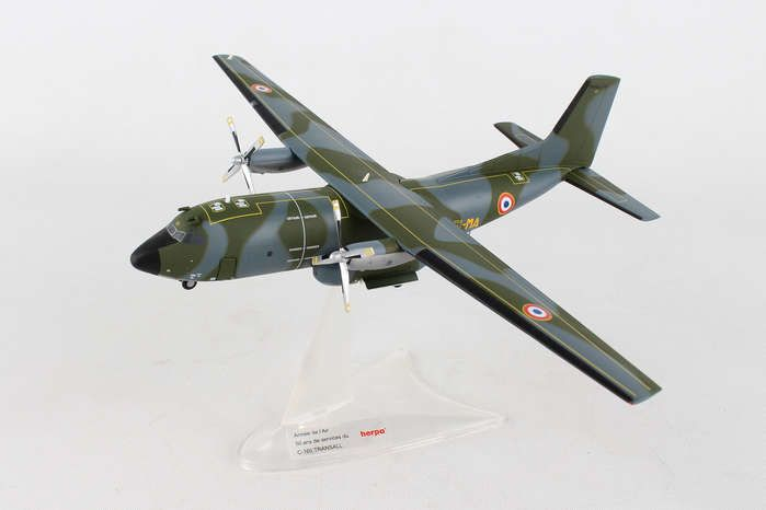 "French Air Force / Armee de lAir Transall C-160,Transport Squadron 61 / 61?me Escadre de transport, Orleans-Bricy AB, 1967 - 61-MA / R1 ""50, Herpa 1:200 Scale Diecast Airliners Item Number HE558877"