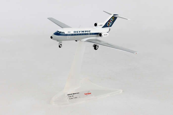 Olympic Airways Yakovlev Yak-40 - I-JAKE (1:200), Herpa 1:200 Scale Diecast Airliners Item Number HE558921