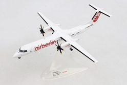 "Air Berlin Bombardier Q400 ""Albino"" colors (1:200), Herpa 1:200 Scale Diecast Airliners Item Number HE559355"