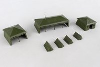Assembly Kit Tents (7 Pieces) (1:87), Herpa HO Scale Models Item Number HE745826