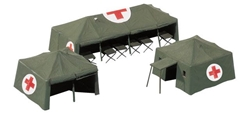 Medical Service Tents (1:87), Herpa HO Scale Models Item Number HE746021