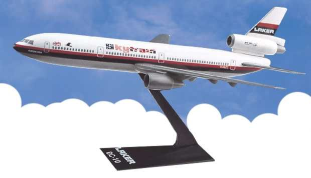 "Larker Airways ""Skytrain"" DC-10 (1:250), Flight Miniatures Snap-Fit Airliners, Item Number DC-01000I-013"