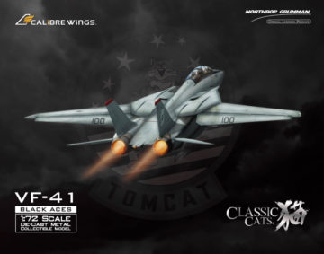 F-14A Tomcat Diecast Model, USN VF-41 Black Aces, AJ100 Anna, USS Enterprise (1:72)