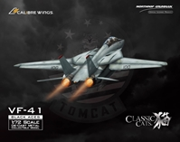 F-14A Tomcat Diecast Model, USN VF-41 Black Aces, AJ100 Anna, USS Enterprise(1:72)