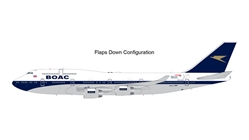 British Airways B747-400 (BOAC Retro, Flaps) G-BYGC (1:200) by GeminiJets 200 Diecast Airliners Model number G2BAW834F