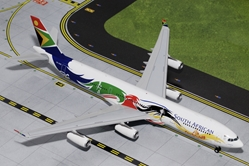 "South African A340-300 ""Olympic Livery"" ""Siyanqoba""  ZS-SXD (1:200), GeminiJets 200 Diecast Airliners, Item Number G2SAA378"