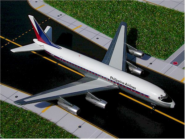 Philippines DC-8-50 (Old Colors) (1:400), GeminiJets 400 Diecast Airliners, Item Number GJPAL193