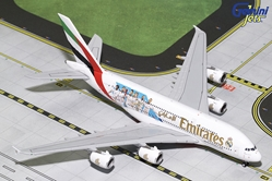 "Emirates A380-800 ""Real Madrid"" A6-EUG (1:400), GeminiJets 400 Diecast Airliners Item Number GJUAE1762"