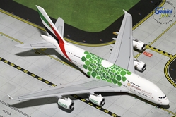 Emirates A380-800 EXPO 2020, Green (1:400), GeminiJets 400 Diecast Airliners, GJUAE1788