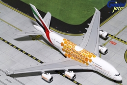 "Emirates A380-800 ""Orange Expo Logo"" A6-EOU (1:400), GeminiJets 400 Diecast Airliners, GJUAE1815"
