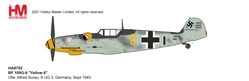 "BF 109G-6 Die Cast Model ""Yellow 6"", Ofw. Alfred Surau, 9./JG 3, Germany, September 1943 (1:48)"