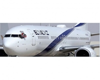 "El Al B737-900ER with Winglets ""Peace"" 4X-EHD w/Stand (1:200)"