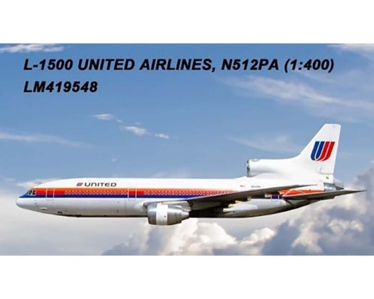 United L-1011 N512PA (1:400) by Lochness Airplane Models Item number LM419548